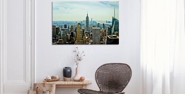 Cuadro realista: ciudad Nueva York