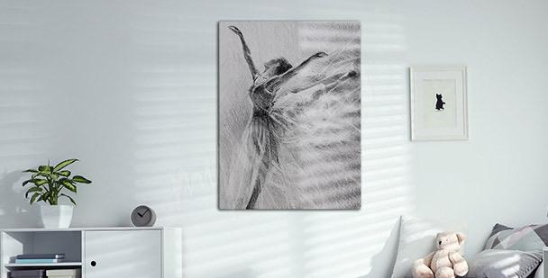 Cuadro retrato de una bailarina de ballet