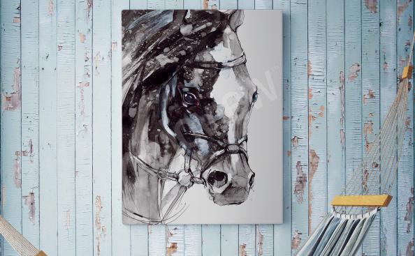 Cuadro rustico con un caballo