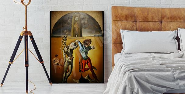 Cuadro surrealista para un dormitorio