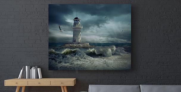 Cuadro tempestad en el mar