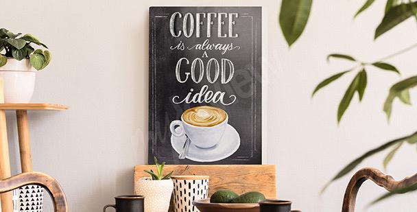 Cuadro tipográfico café