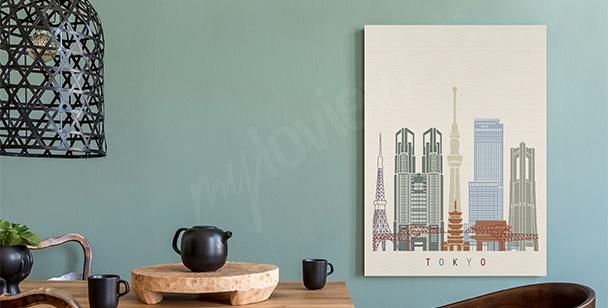 Cuadro Tokio y rascacielos