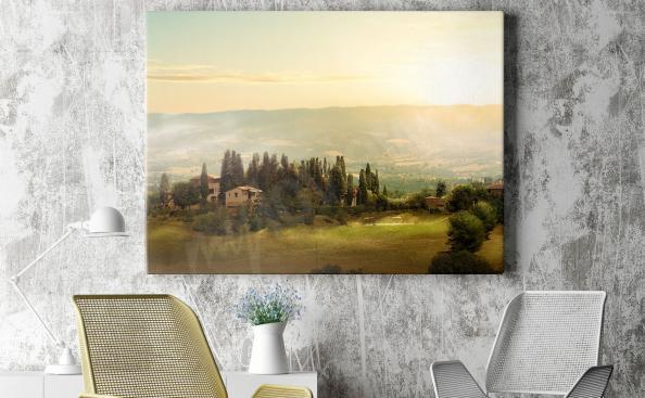 Cuadro Toscana al atardecer