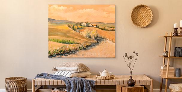 Cuadro Toscana en acuarela