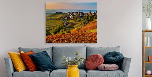 Cuadro Toscana en colores cálidos