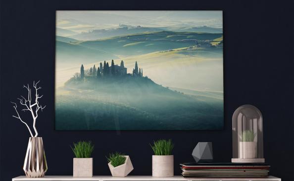 Cuadro Toscana en la niebla