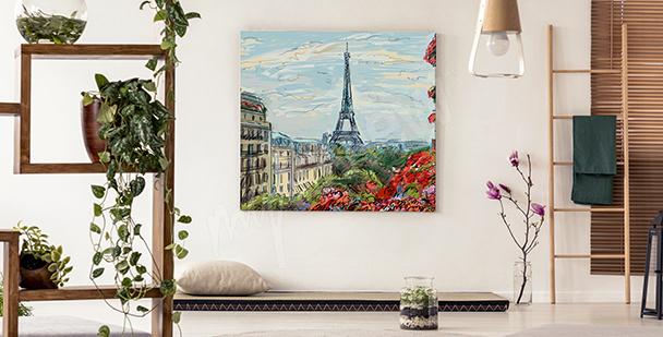 Cuadro vista de la Torre Eiffel