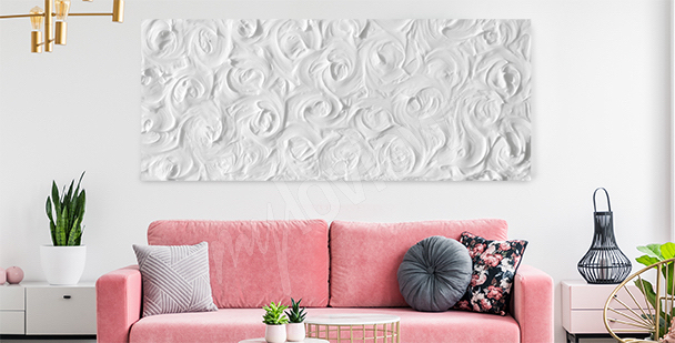 Delicado cuadro rosas blancas
