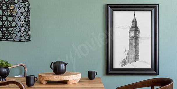 Dibujo póster Big Ben