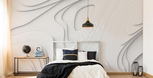 Fotomural 3D blanco abstracción