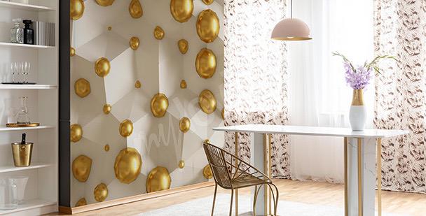 Fotomural 3D perlas amarillas