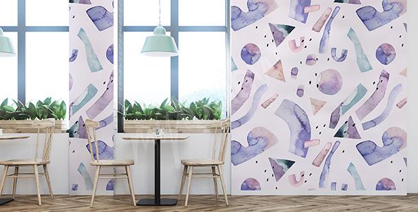 Fotomural abstracción violeta