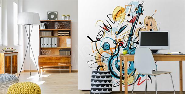 Fotomural abstracto con música