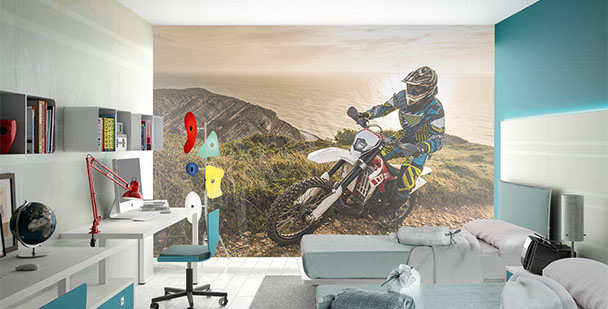 Fotomural adolescente motocicleta