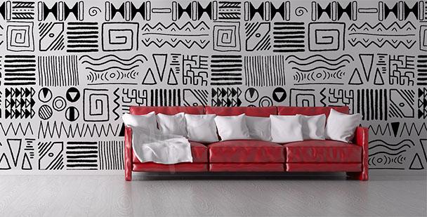 Fotomural africano para sala de estar
