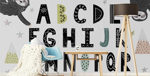 Fotomural alfabeto y perezosos