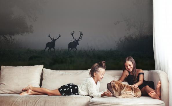 Fotomural Animales - ciervos en el bosque