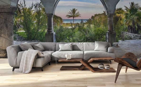 Fotomural arquitectura para la sala de estar