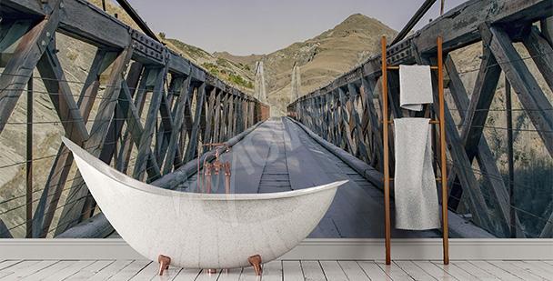 Fotomural aumentado para baño