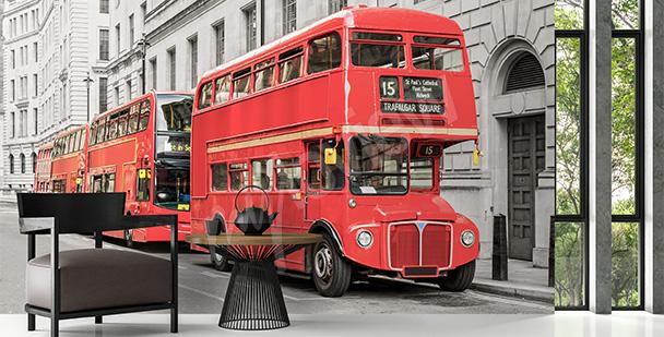 Fotomural autobús rojo