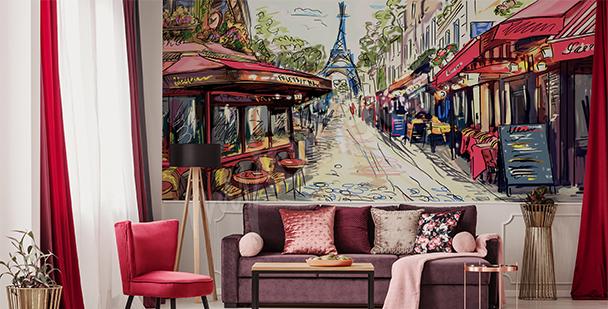 Fotomural avenida parisina