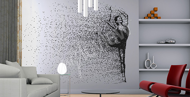 Fotomural bailarina - estilo minimalista