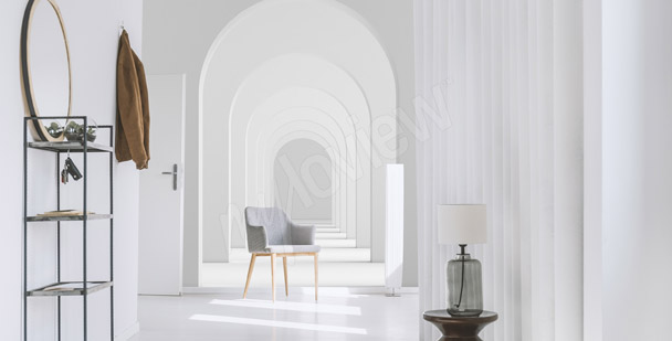 Fotomural blanco túnel 3D