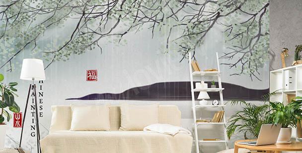 Fotomural botánico Asia
