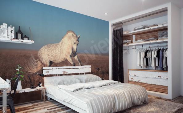Fotomural con caballo dormitorio