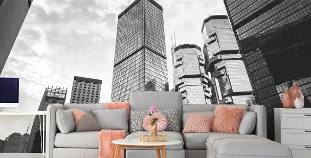 Fotomural con edificios de Hong Kong