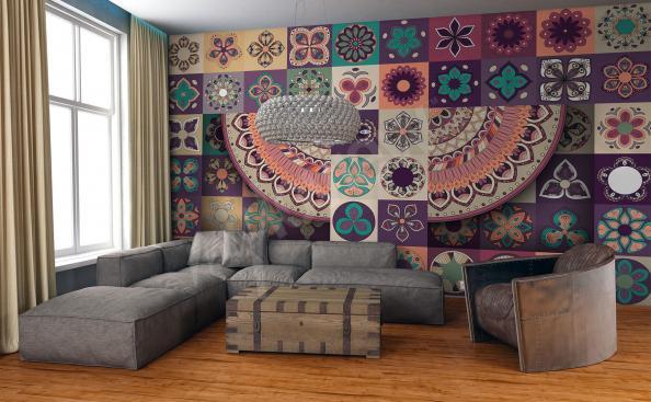 Fotomural con estilo de un mosaico