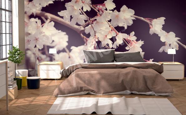 Fotomural con flores 3D