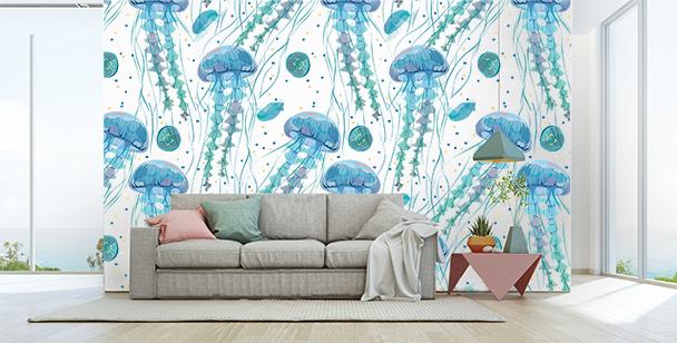 Fotomural con medusas