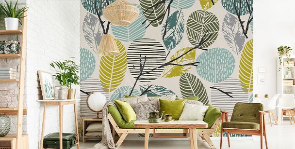 Fotomural con motivos de plantas