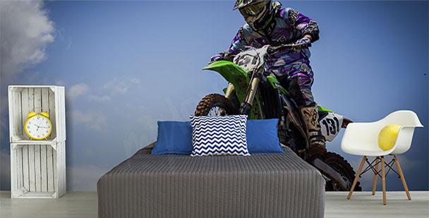 Fotomural con motociclista