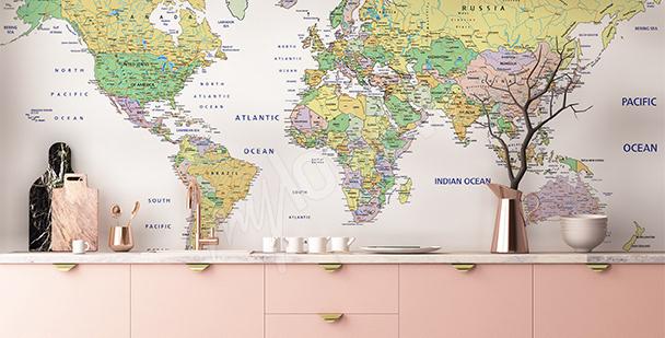 Fotomural con un mapa político
