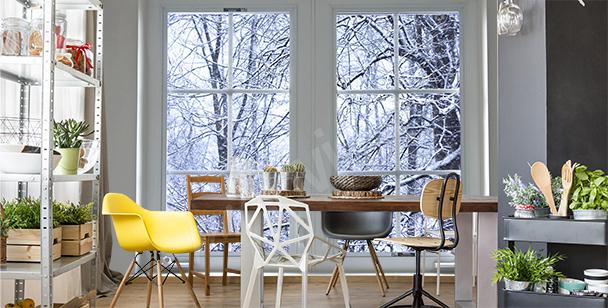 Fotomural con un paisaje invernal