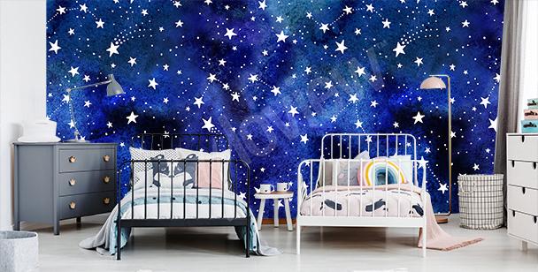 Fotomural constelaciones de estrellas
