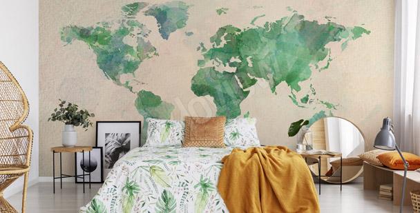 Fotomural continentes verdes