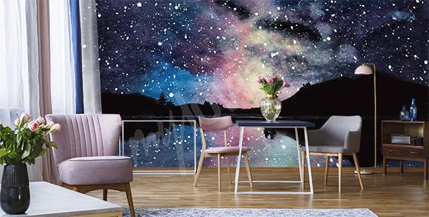 Fotomural cósmico para la sala de estar