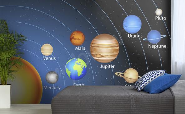 Fotomural cosmos para la habitación de un niño