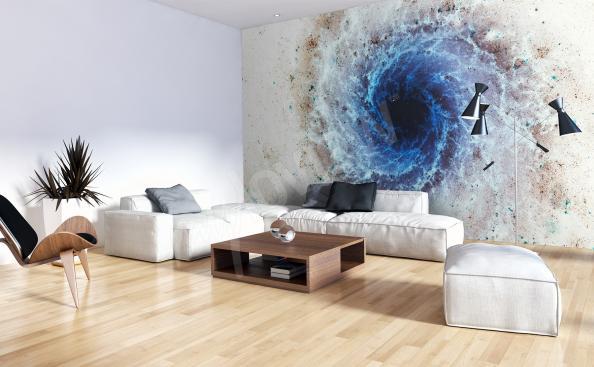 Fotomural cosmos para una moderna sala de estar