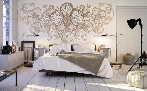 Fotomural de la pared patrón de la orquídea