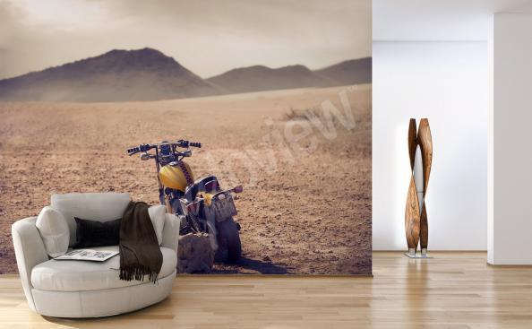 Fotomural de pantalla con una motocicleta elegante