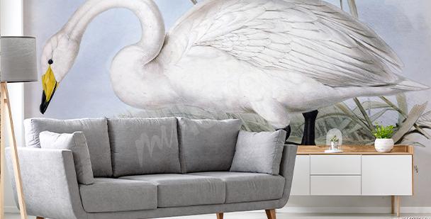 Fotomural delicado con cisne