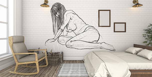 Fotomural desnudo para dormitorio