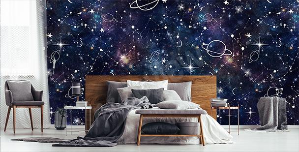 Fotomural dibujado galaxia