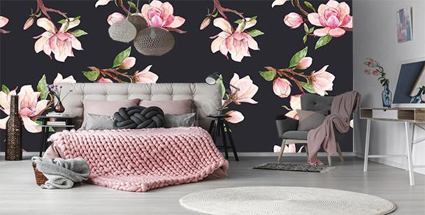 Fotomural diseño de magnolias