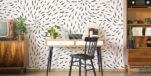 Fotomural  diseño en blanco y negro